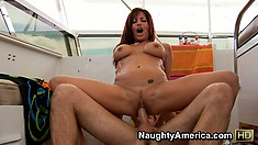 Tara Holiday is a screamer and doesn't hold back being fucked from behind