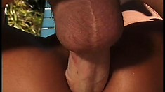 Attractive Asian babe takes a stiff white cock up her ass by the pool
